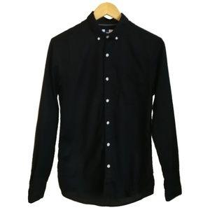 3/30$ MEN TOPMAN Black Fitted Button Down Shirt